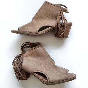 Mary A Fringe Booties